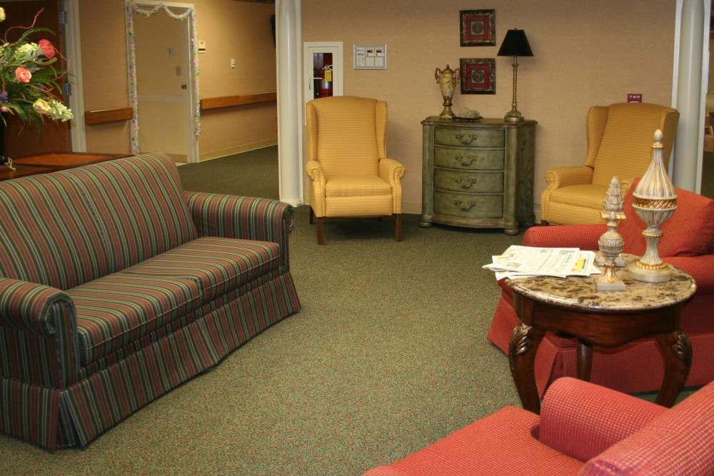 Sitting area at Park Terrace Health Campus in Louisville, Kentucky