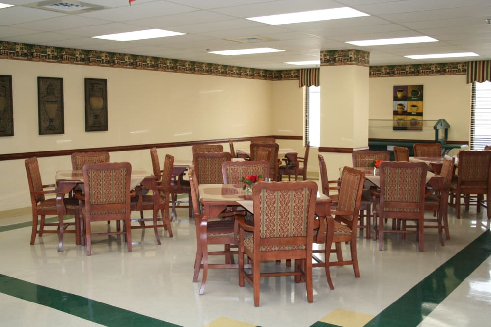 Dining room at Park Terrace Health Campus in Louisville, Kentucky