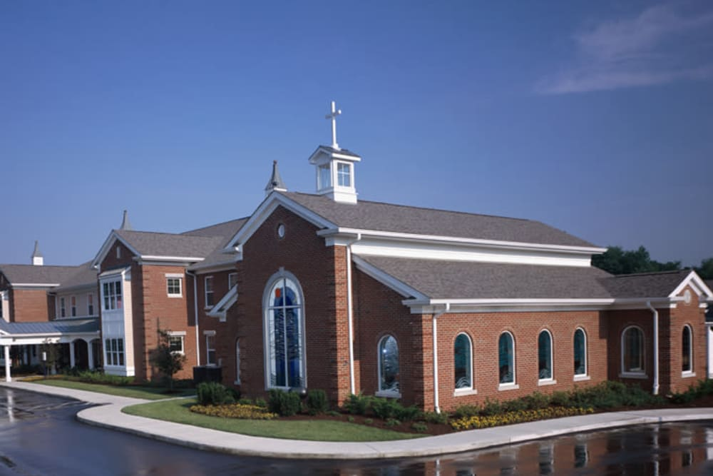 Exterior view of the Franciscan Health Care Center's chapel in Louisville, Kentucky