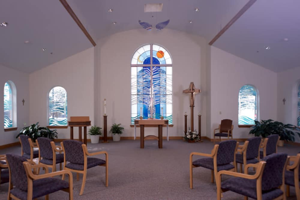 interior view of the Franciscan Health Care Center's chapel in Louisville, Kentucky