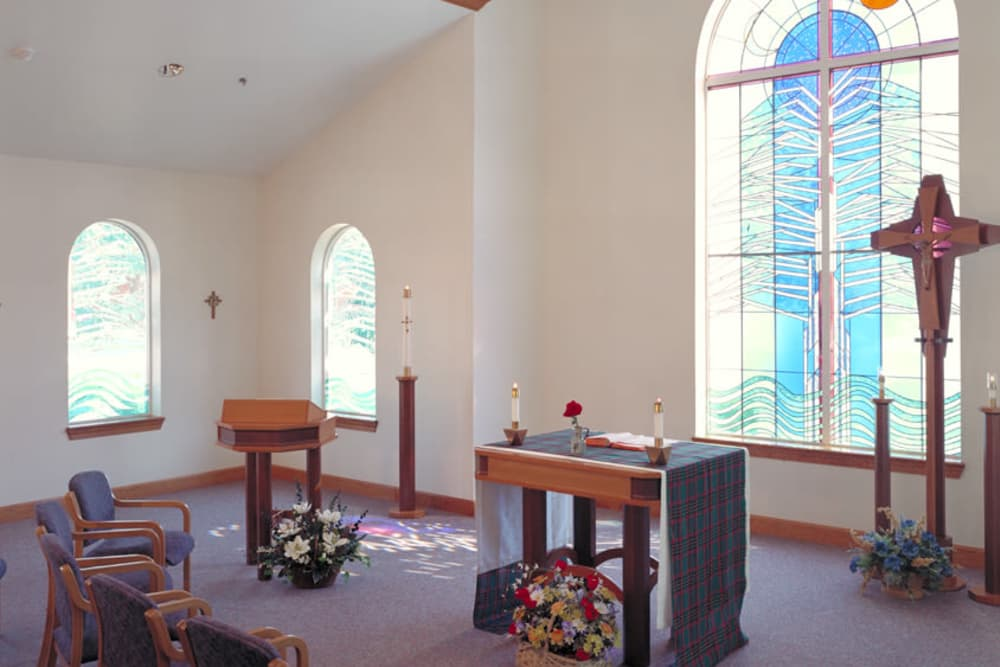 Interior view of chapel at Franciscan Health Care Center in Louisville, Kentucky