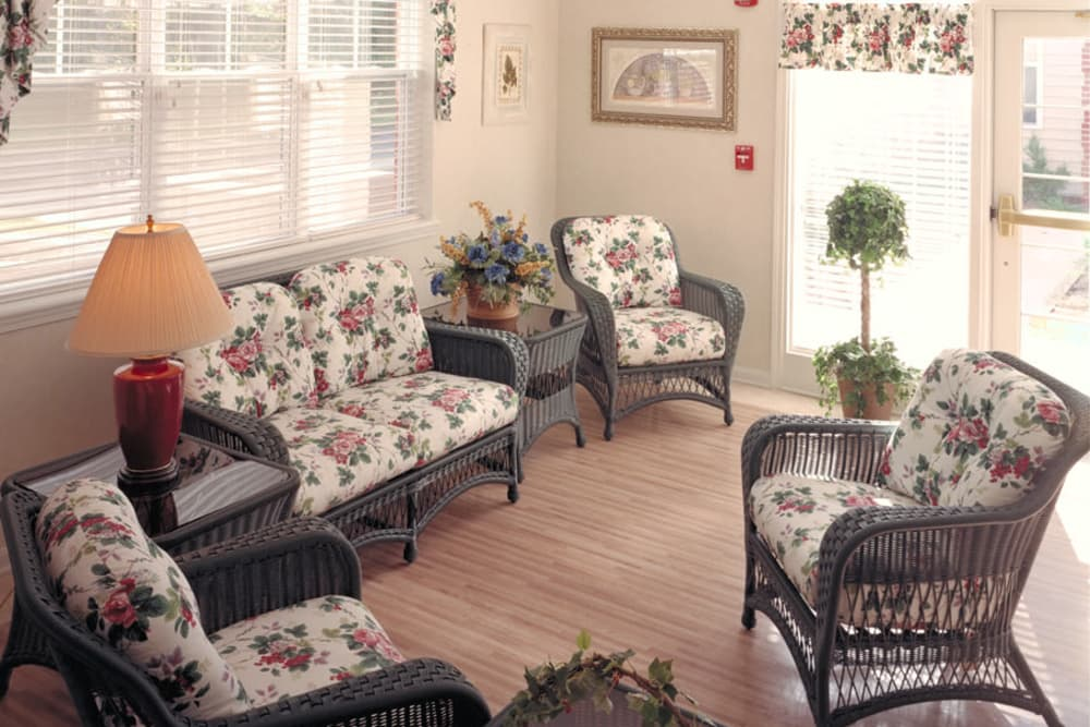 Well decorated sunroom at Franciscan Health Care Center in Louisville, Kentucky
