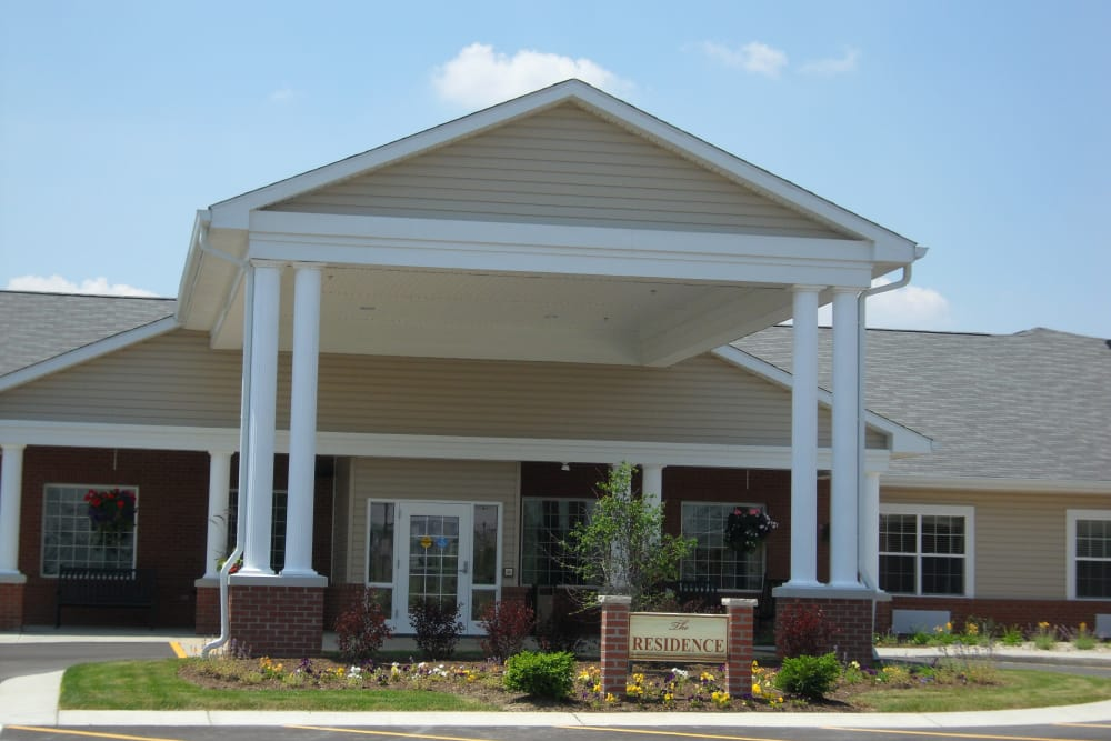 Front entrance at Prairie Lakes Health Campus in Noblesville, Indiana