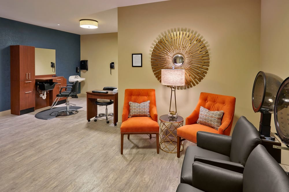 Onsite hair salon for residents at The Springs of Richmond in Richmond, Indiana