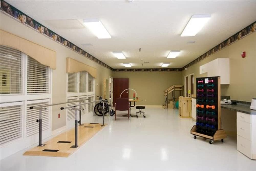 Therapy gym at Glen Ridge Health Campus in Louisville, Kentucky