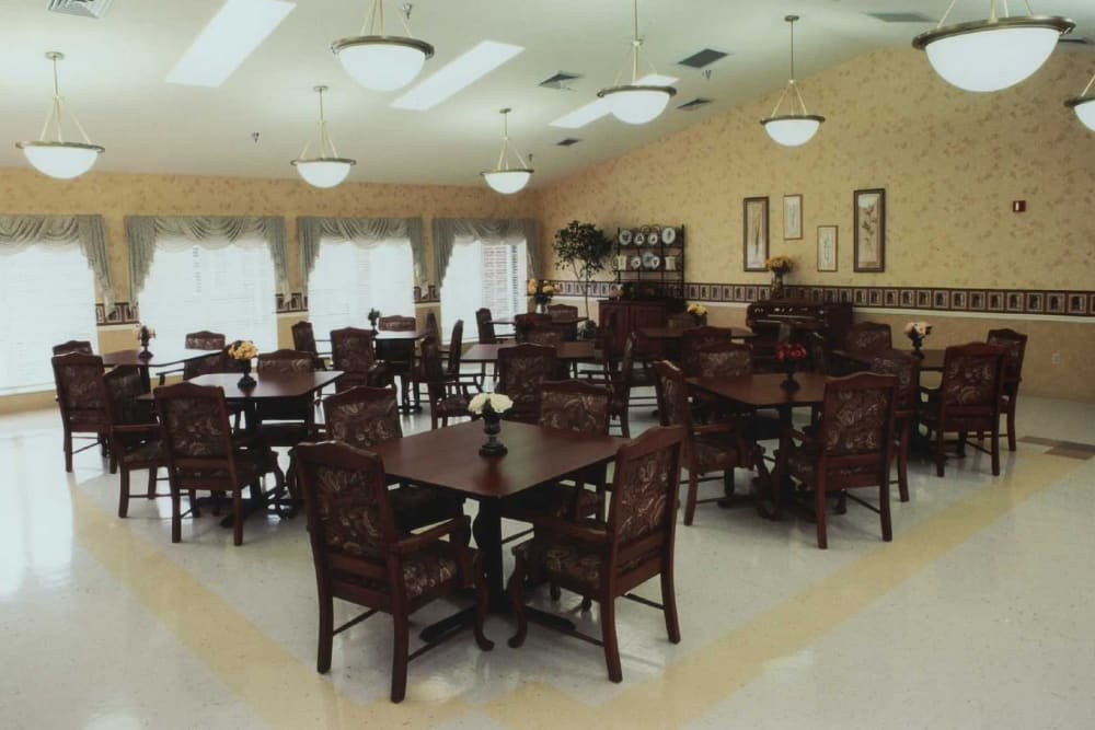 Dining room at RiverOaks Health Campus in Princeton, Indiana