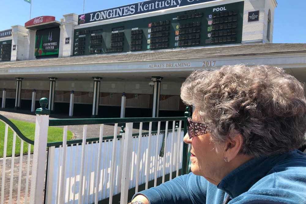 Woman on a tour by Longines Kentucky Oaks at Hampton Oaks Health Campus in Scottsburg, Indiana