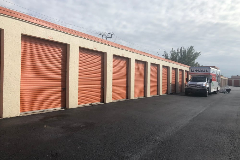 Drive up outdoor storage available at Top Self Storage - North Lauderdale