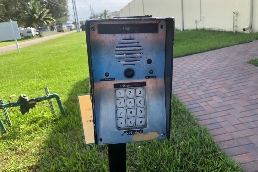 Security Key pad at Top Self Storage - North Lauderdale