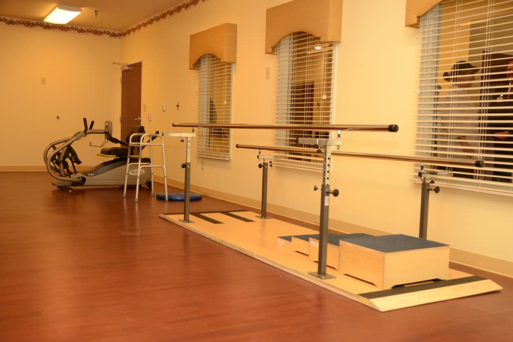 Hearthstone Health Campus' therapy gym in Bloomington, Indiana