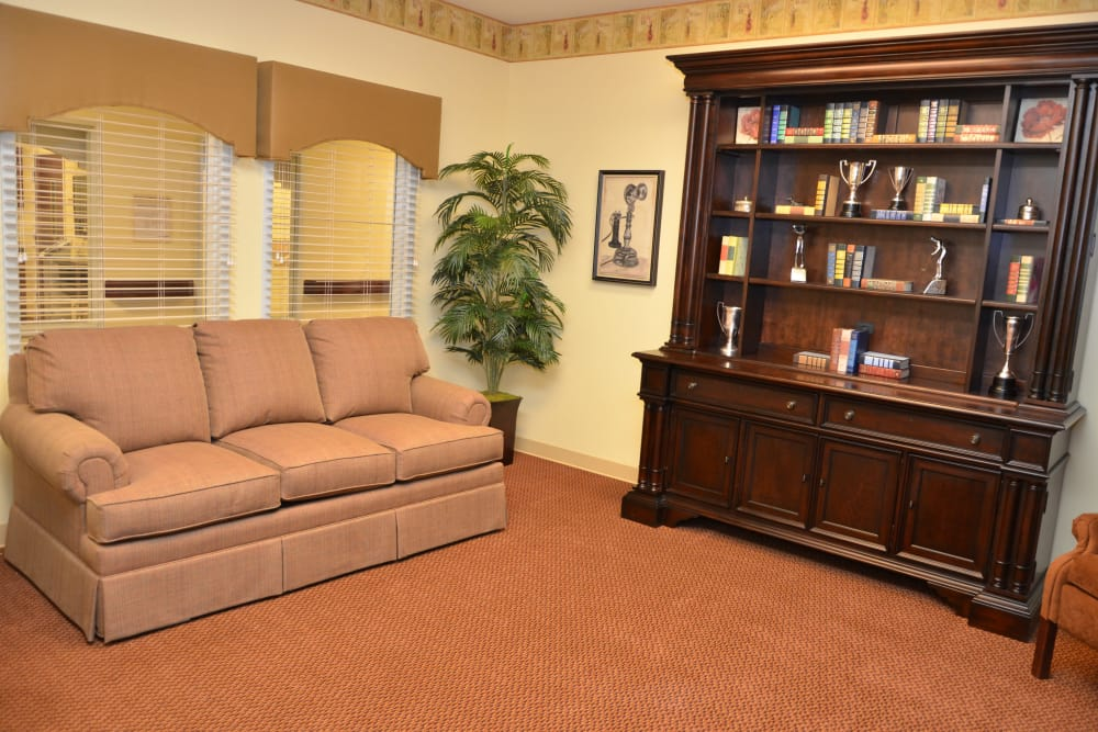 Ample social room at Hearthstone Health Campus in Bloomington, Indiana