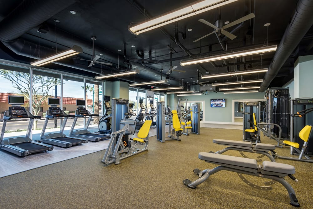 Onsite fitness center at Capital Place in Phoenix, Arizona