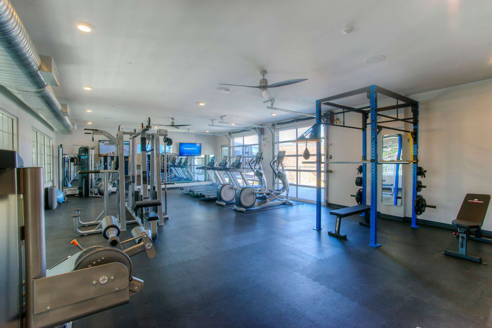 Onsite fitness center at District Lofts in Gilbert, Arizona