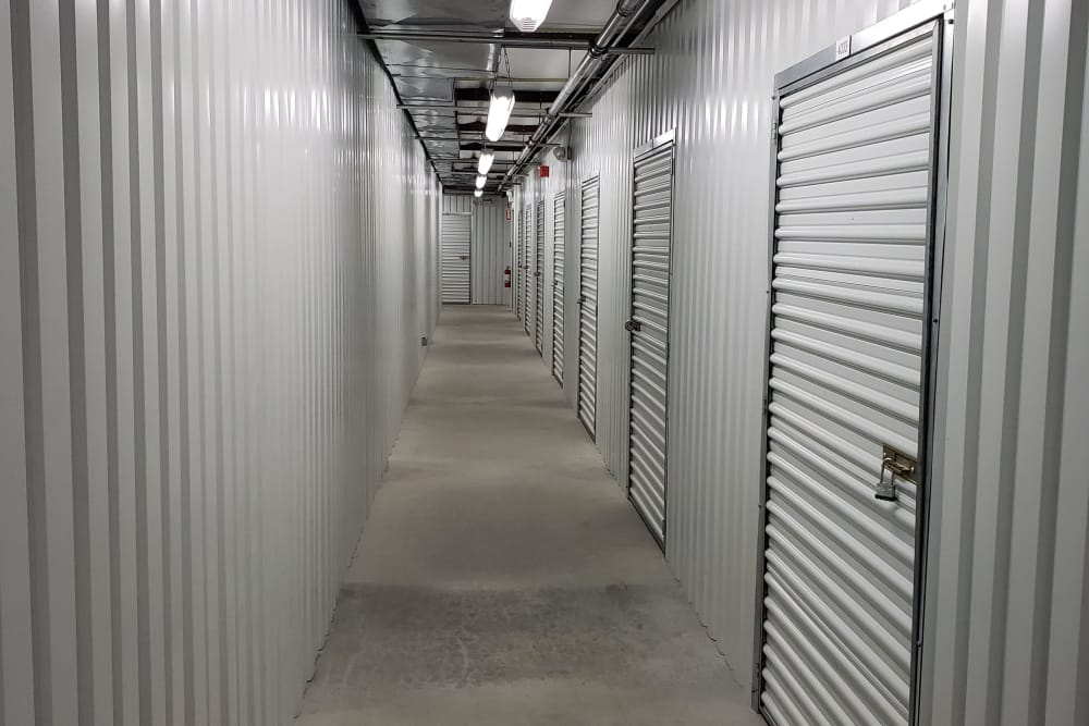 Bridgehampton, New York storage facility offers a clean hallway