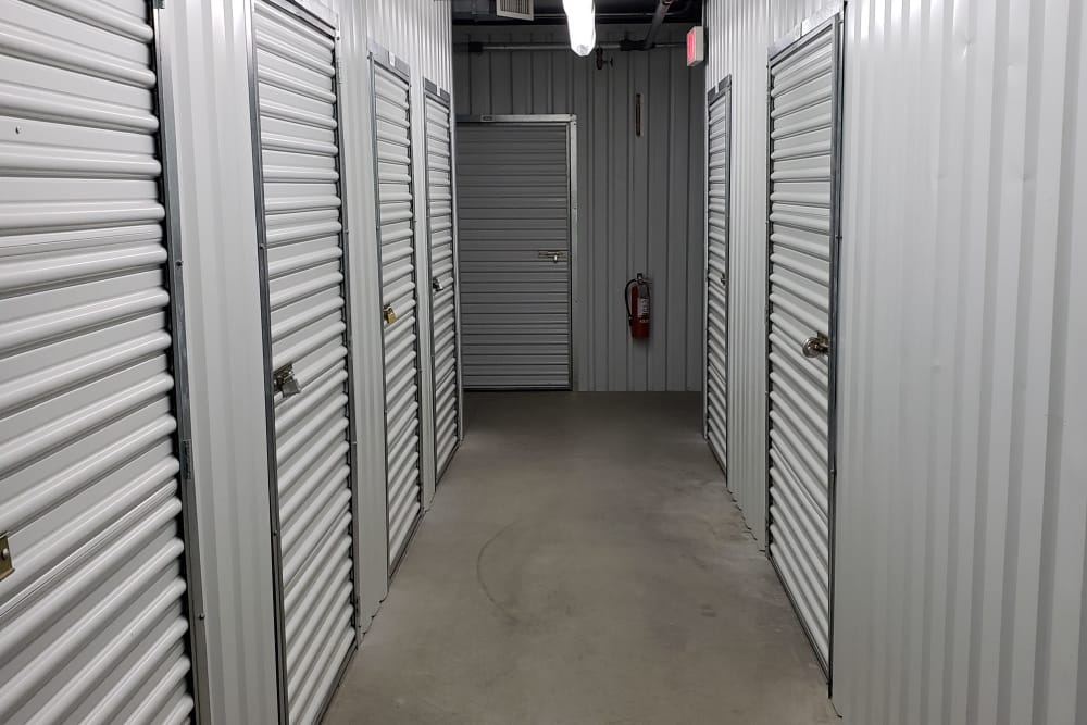 Clean hallway at our self storage facility in Bridgehampton, New York