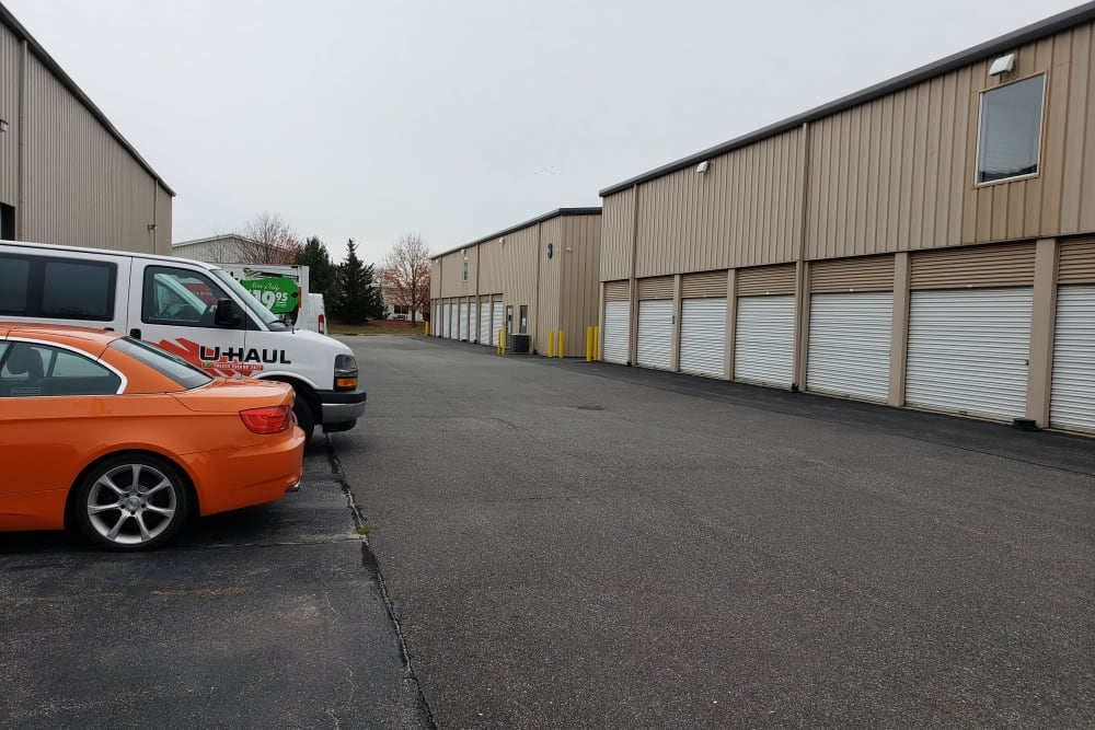 Exterior storage units at Prime Storage in Bridgehampton, New York