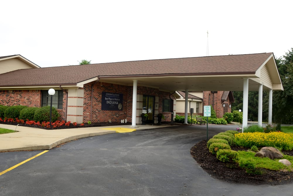 Drive-up entrance at St. Elizabeth Healthcare Campus in Delphi, Indiana
