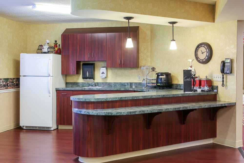 Open kitchen at St. Mary Healthcare Center in Lafayette, Indiana