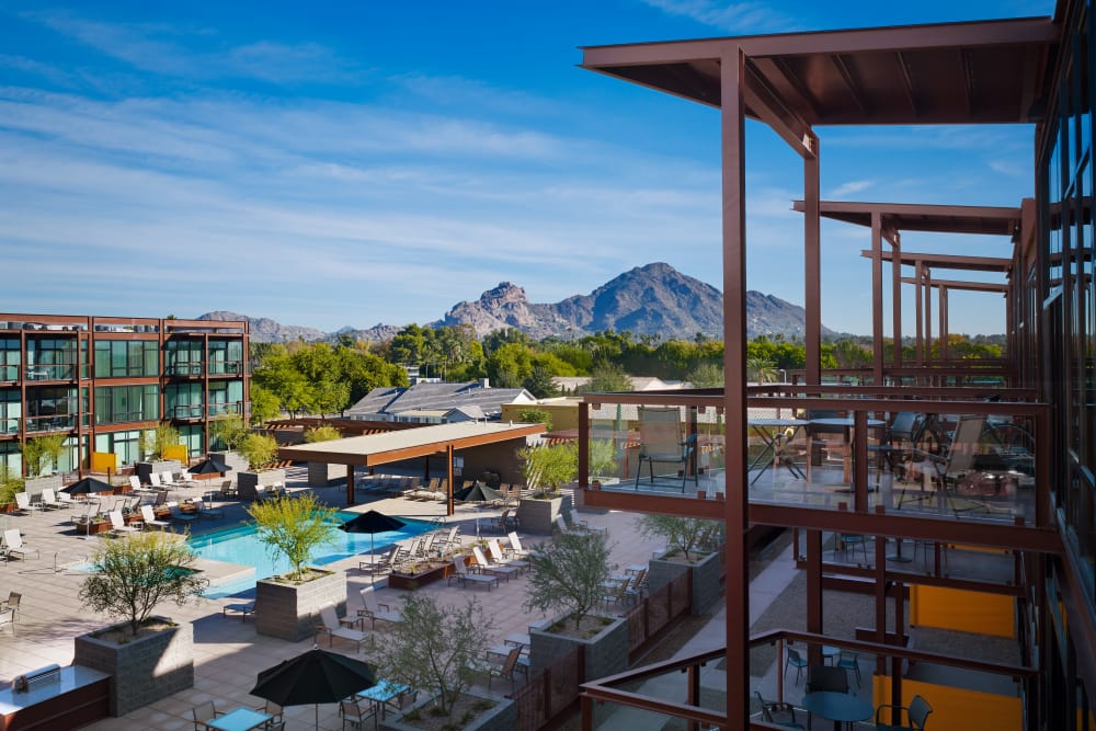 Gorgeous views at Domus in Phoenix, Arizona