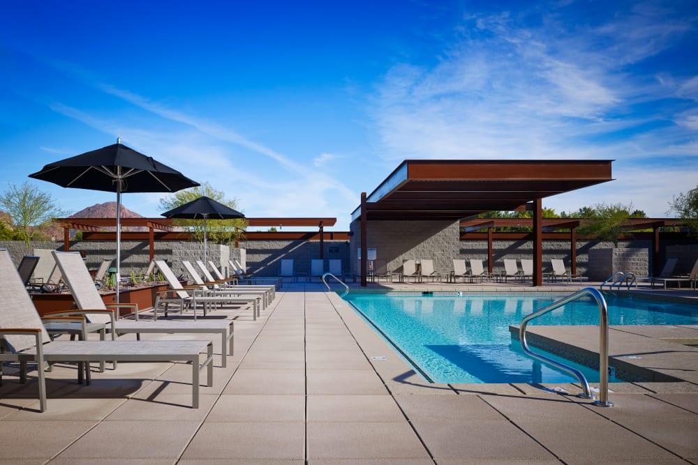 Beautiful swimming pool area at Domus in Phoenix, Arizona