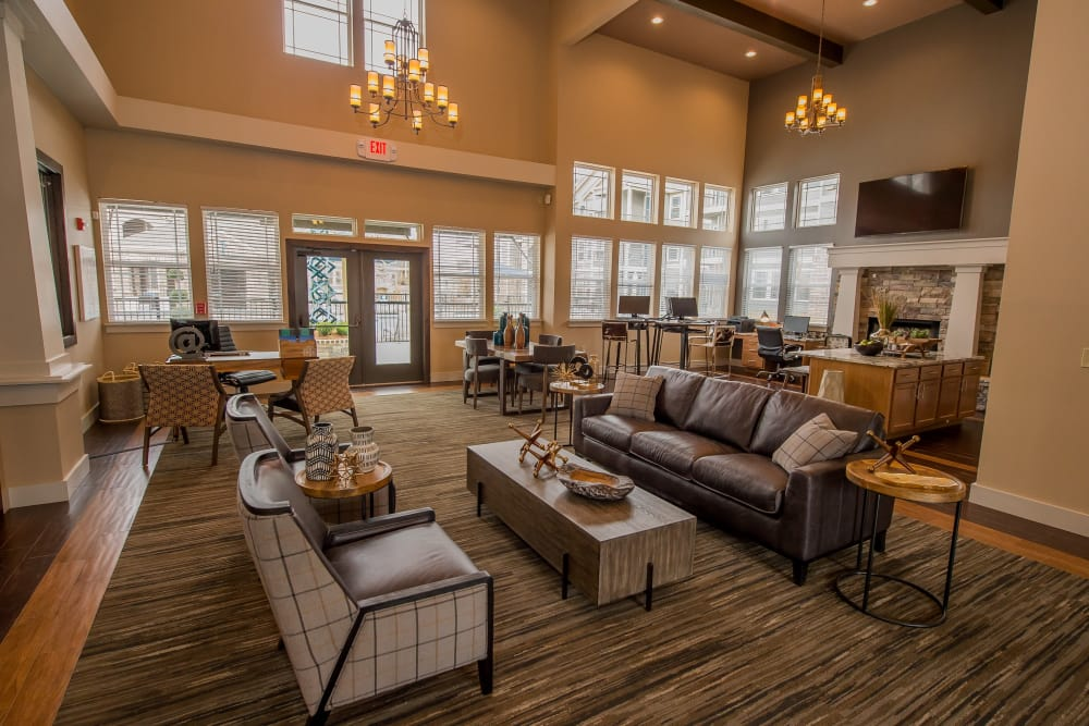 Luxury clubhouse at Scissortail Crossing Apartments in Broken Arrow, Oklahoma