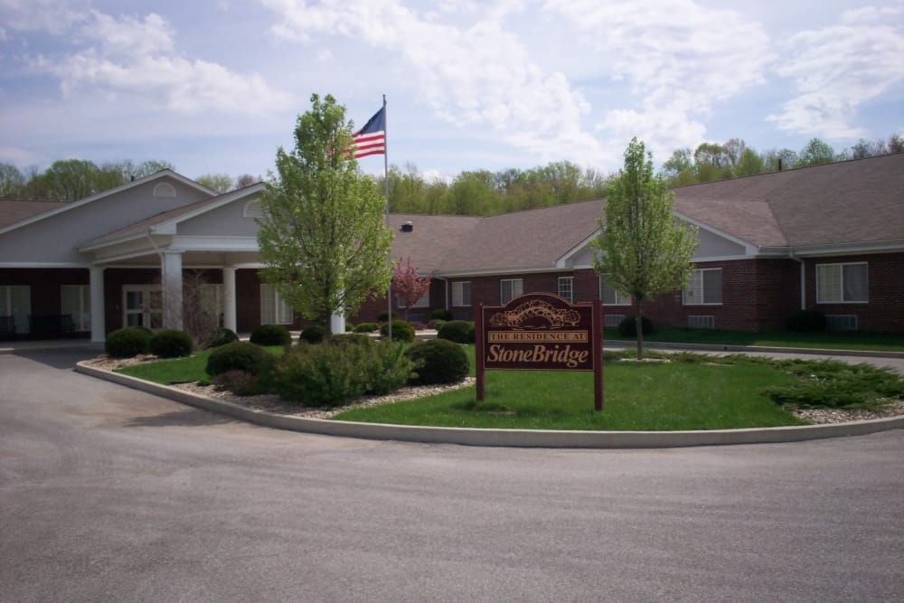 Entrance at StoneBridge Health Campus in Bedford, Indiana