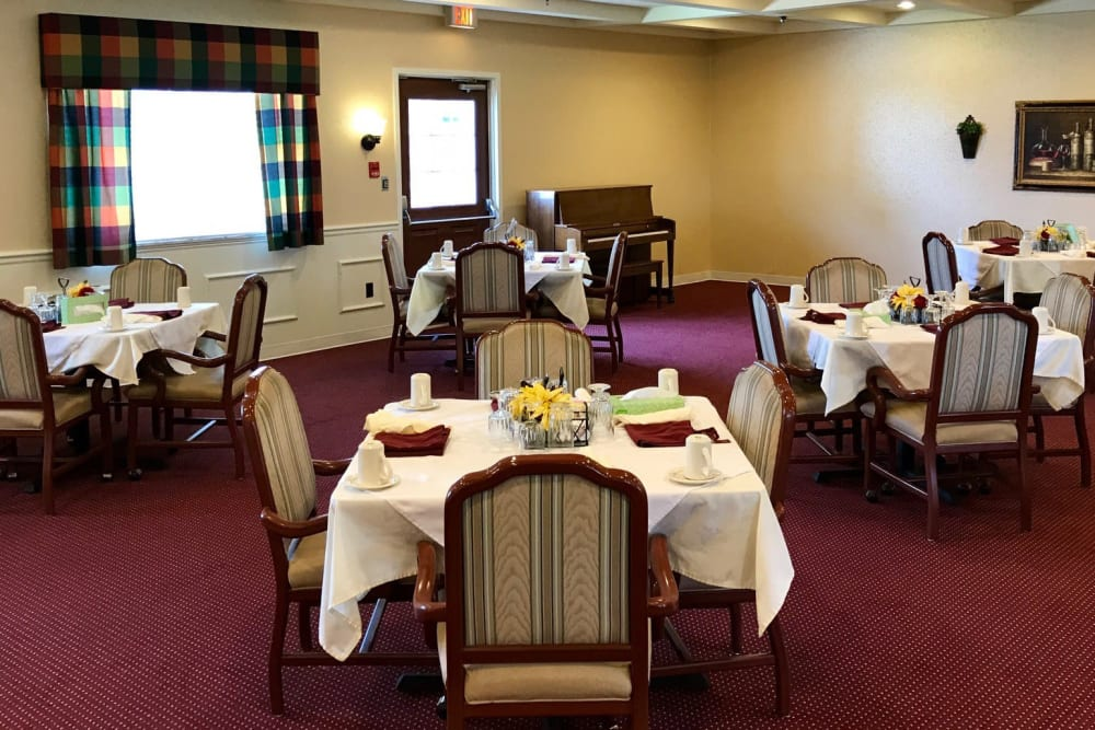 Health care dining room at The Heritage in Findlay, Ohio