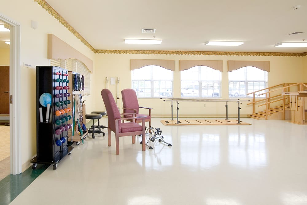 Therapy gym at Waterford Crossing in Goshen, Indiana