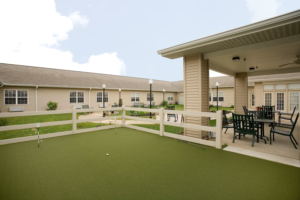 Courtyard side view at Waterford Crossing in Goshen, Indiana