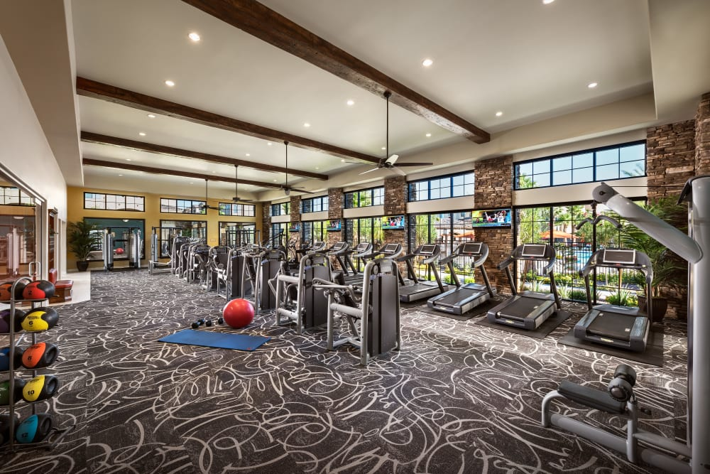 Onsite fitness center at San Milan in Phoenix, Arizona