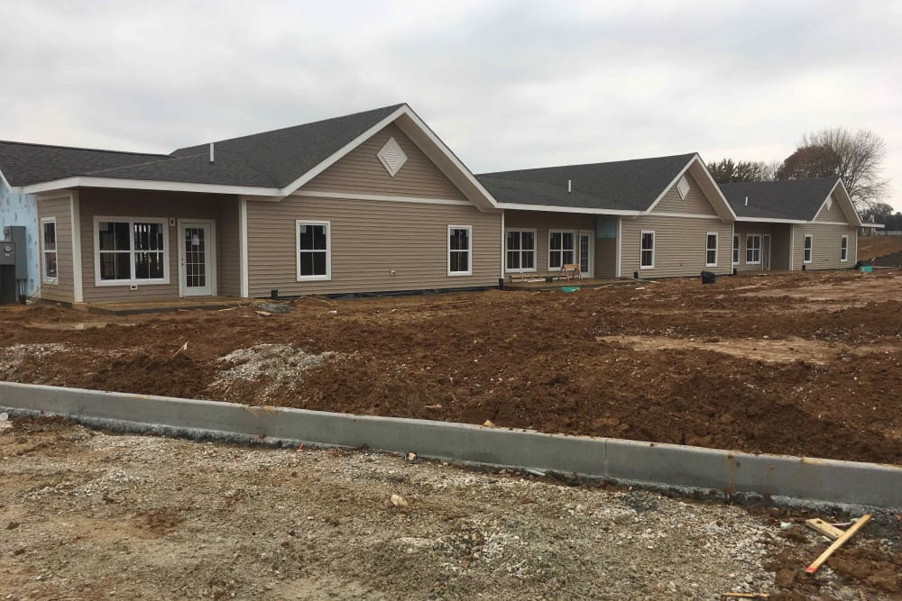 Back of 1 Bedroom Town Homes - 11-16-18