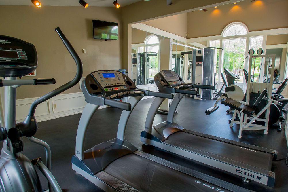 Summerfield Place Apartments offers a private fitness center in Oklahoma City, Oklahoma