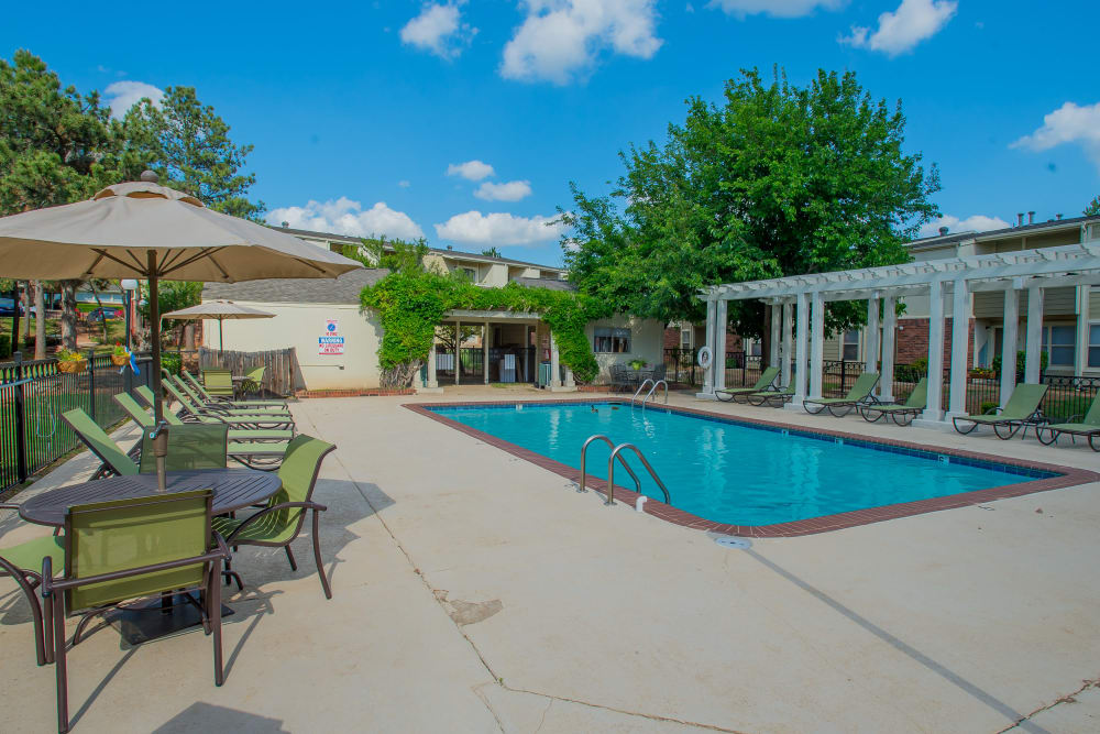 Summerfield Place Apartments offers a resort-style swimming pool in Oklahoma City, Oklahoma