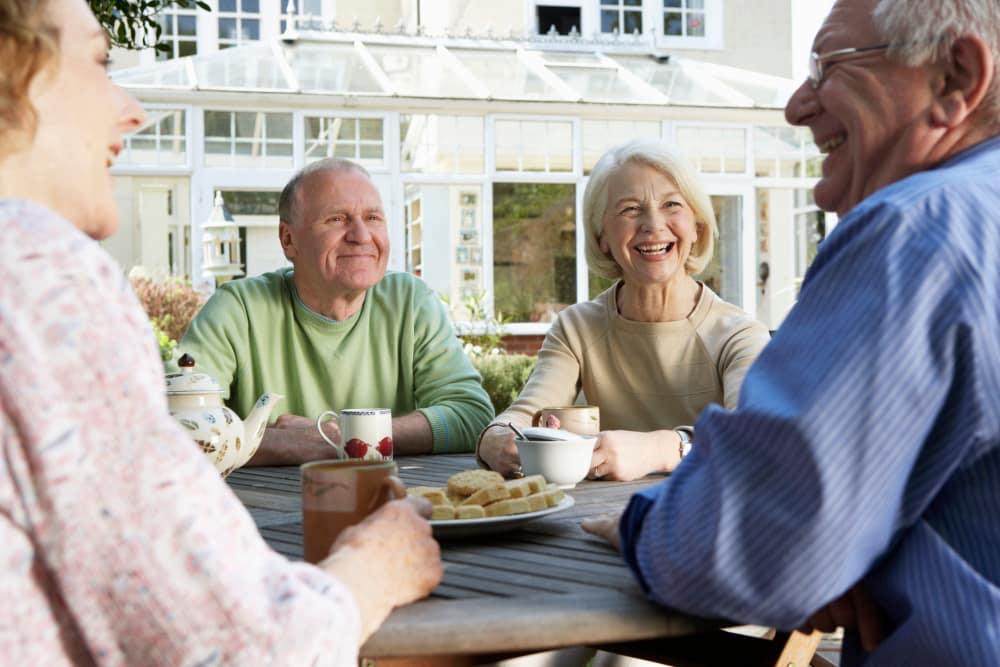 Residents having a snack at Vista Village Senior Living in Vista, California