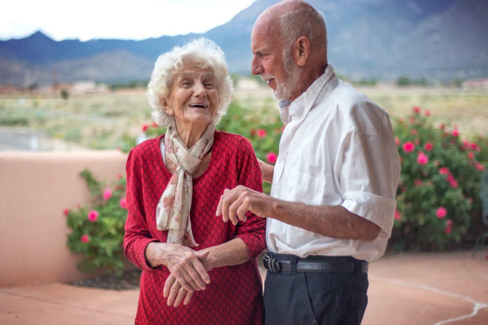 Happy resident couple at Pacifica Senior Living Vista in Vista, California