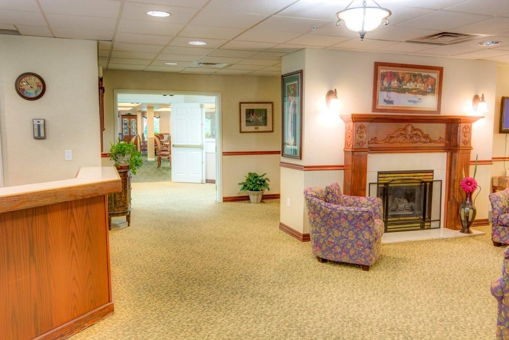 Lobby at Cascade Valley Senior Living in Arlington.