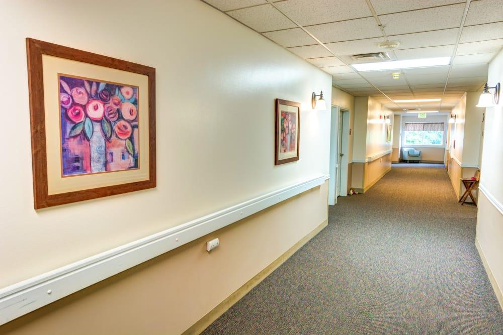 Hall at Cascade Valley Senior Living in Arlington.