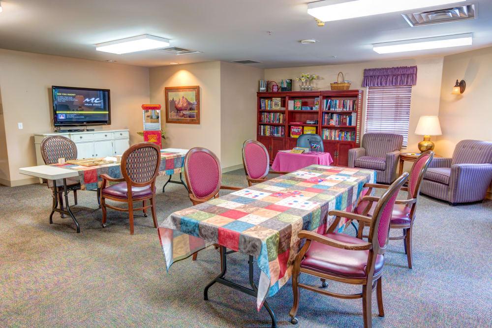 Activity room at Cascade Valley Senior Living in Arlington.