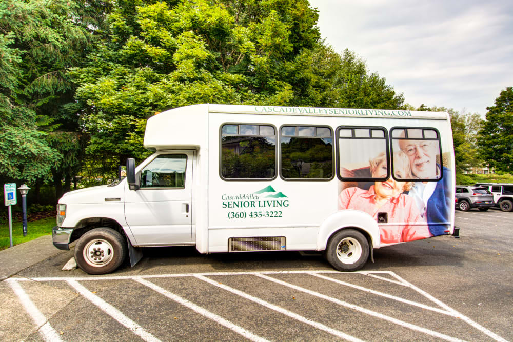 We're proud to offer scheduled transportation at Cascade Valley Senior Living in Arlington.