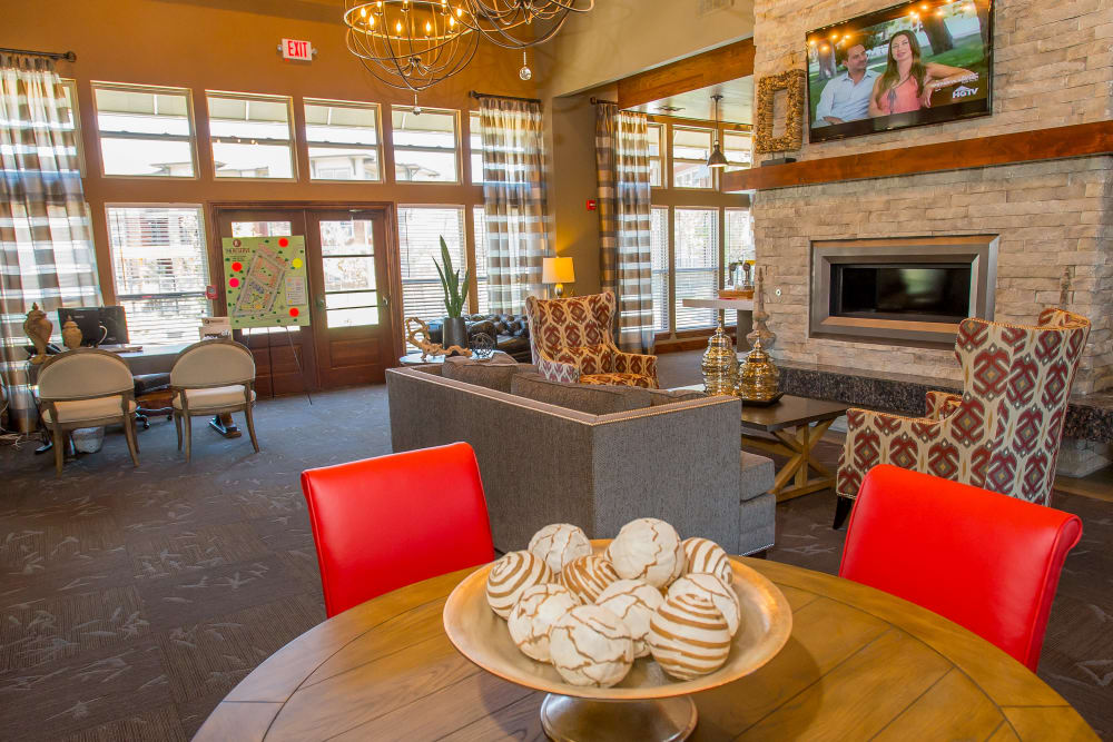 Clubhouse lobby at The Reserve at Elm in Jenks, Oklahoma