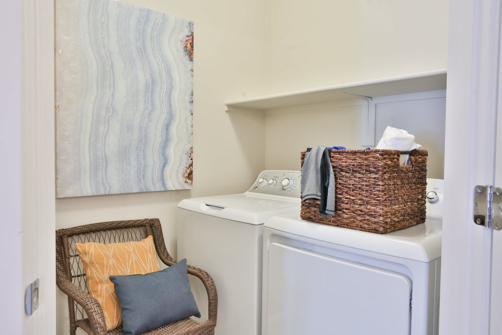 In-unit washer and dryer in model home at Slate Scottsdale in Phoenix, Arizona