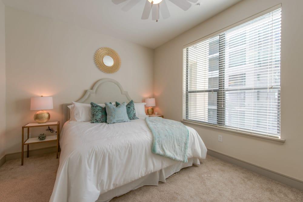 Beautiful bedroom at The Hamilton Apartments in Houston, Texas