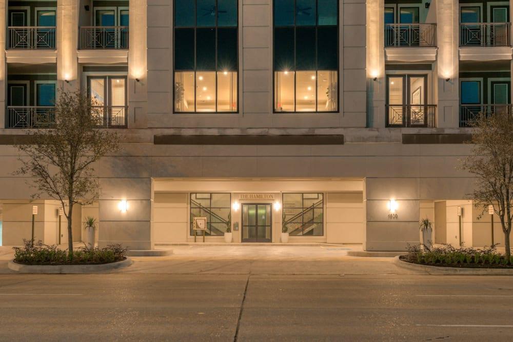Entryway at The Hamilton Apartments in Houston, Texas