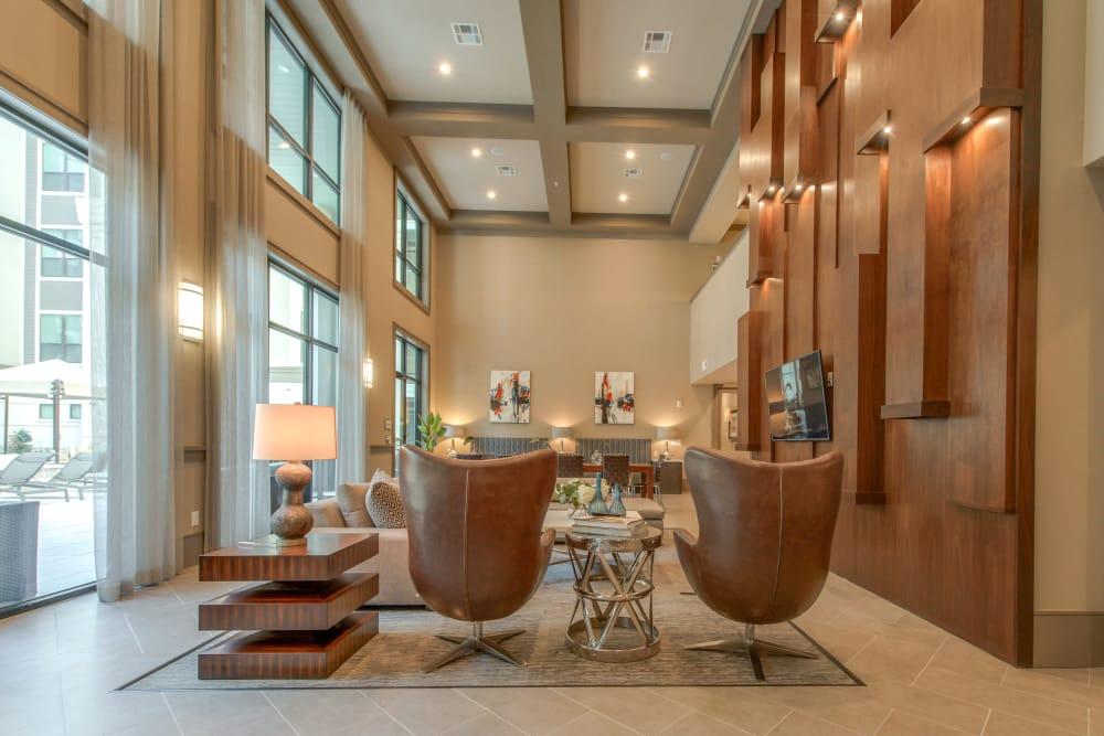 Beautiful lobby at The Hamilton Apartments in Houston, Texas