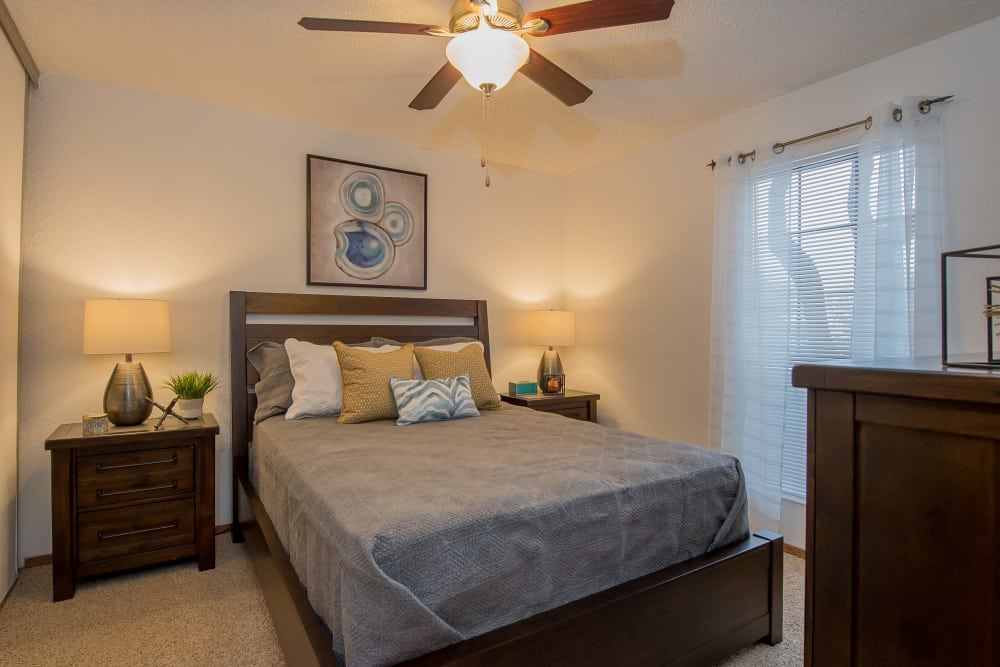 Warrington Apartments offers spacious bedrooms in Oklahoma City, Oklahoma