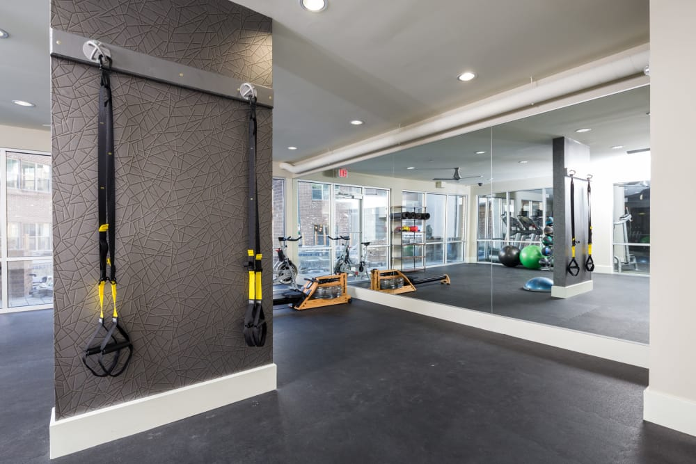 State-of-the-art fitness center at One Metrocenter in Nashville, Tennessee