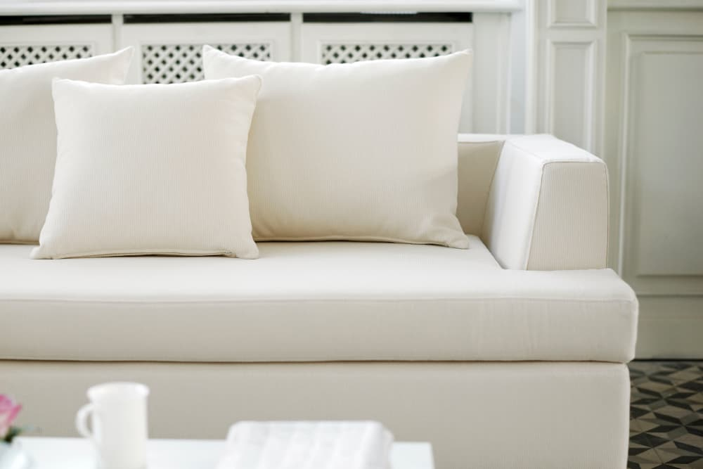 White couch at Randle Hill Apartments in Washington, District of Columbia