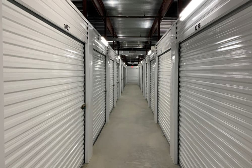 Interior storage units at Advantage Storage -  Panther Creek in Little Elm, Texas