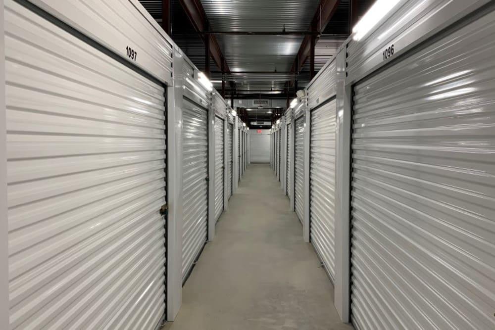 Interior storage units at Advantage Storage -  Panther Creek in Little Elm, Texas