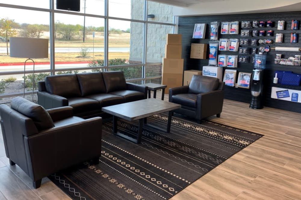 Leasing office at Advantage Storage -  Panther Creek in Little Elm, Texas